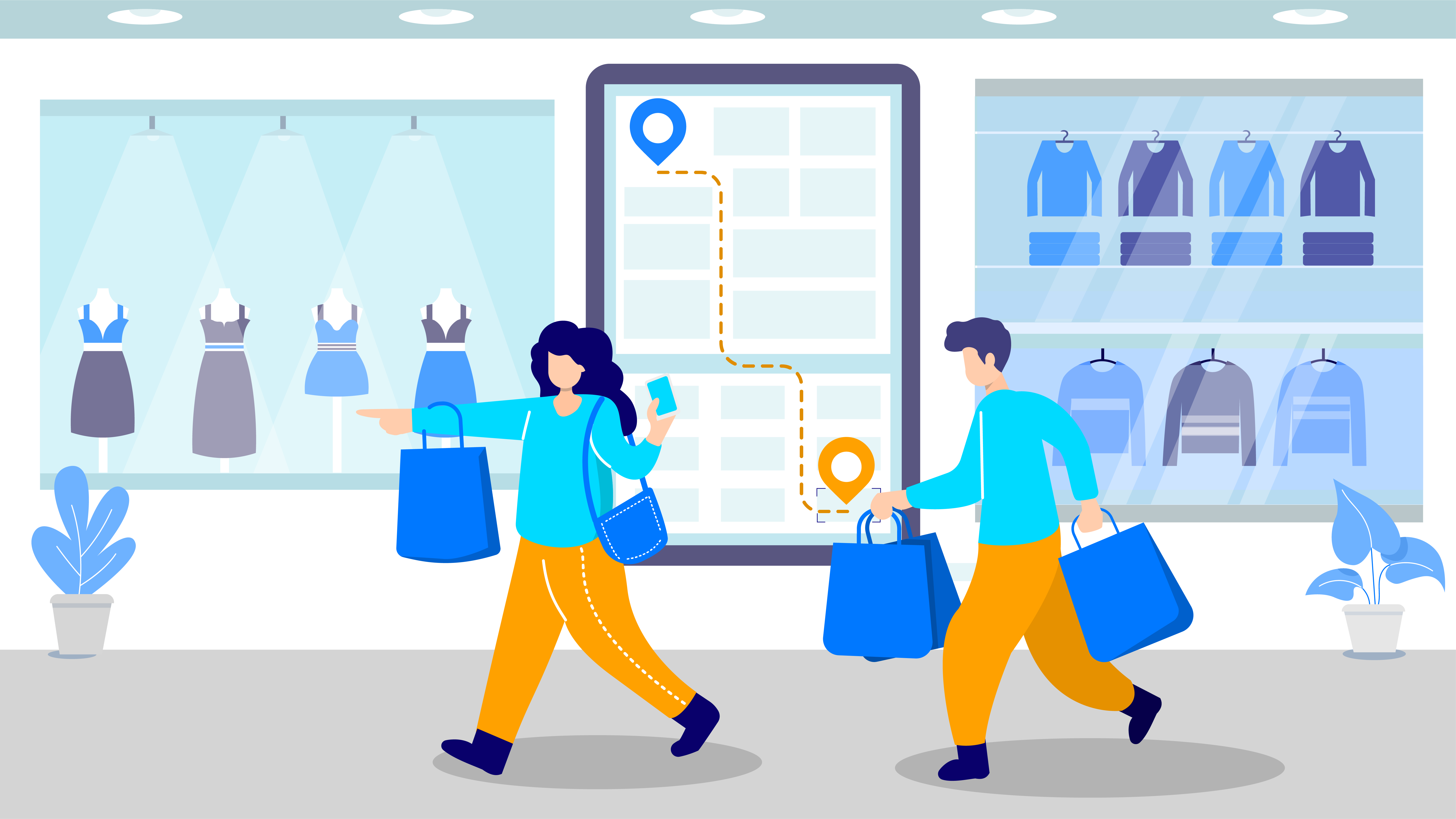 indoor navigation in shopping malls