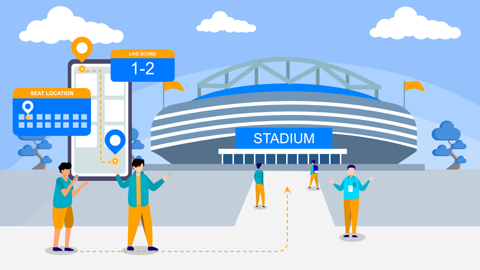 Indoor Navigation for Stadiums